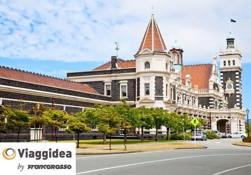 Full length view of Dunedin Railway Station
