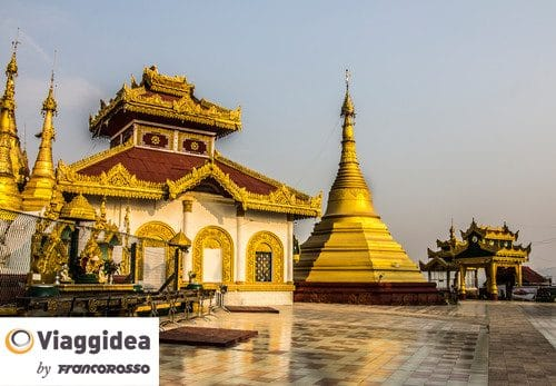 Kyaikthanian Paya, temple and monastery, Mawlamyine in the south of Myanmar. (There is no entrance fee in this pagoda)